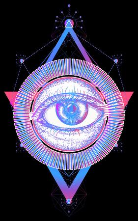 Magic eye t-shirt design