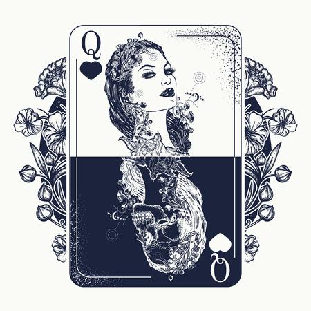 Piękna dziewczyna i szkielet królowej.