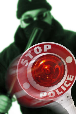 threateningly: Stop - Police LANG_EVOIMAGES