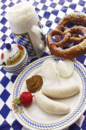 foodstill: Bavarian Weisswurst, typical local delicacy LANG_EVOIMAGES