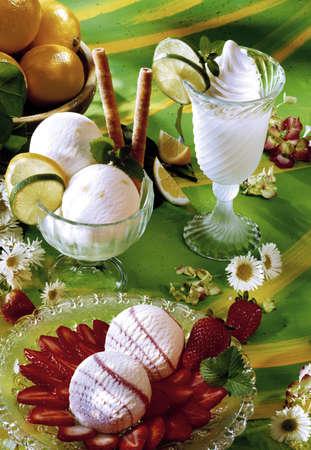 citrons: Ice cream, different varieties