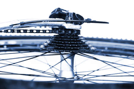 Wheel and gear of bike, close-up LANG_EVOIMAGES