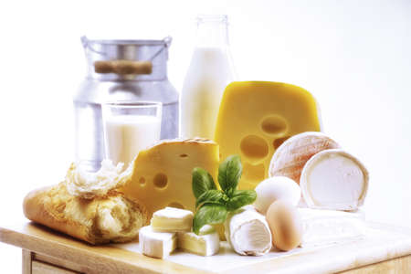 foodstill: Foodstill with cheese, eggs and milk