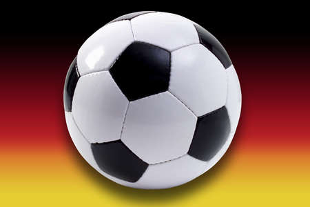 Soccer in front of German flag, composing LANG_EVOIMAGES
