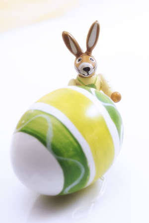 Easter egg and bunny, close-up