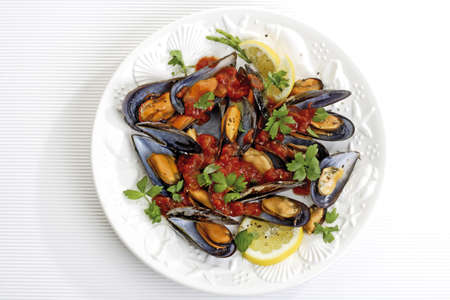 Mussels, freshly prepaired Stock Photo - 23707565