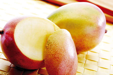 Mangos on table mat
