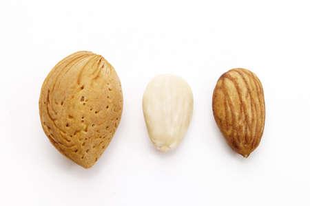 juxtaposing: Almond,close-up