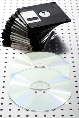 Floppy disks and cd`s Stock Photo - 23674929
