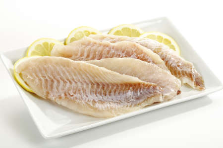 redfish: Filets of redfish, uncooked