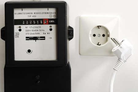 electricity meter: Electricity meter, socket and plug LANG_EVOIMAGES