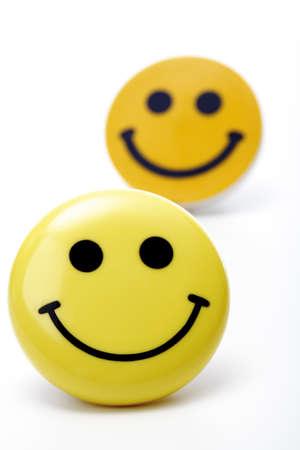gratified: Yellow and orange smiley