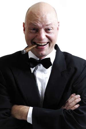 gratify: Man smoking cigar LANG_EVOIMAGES