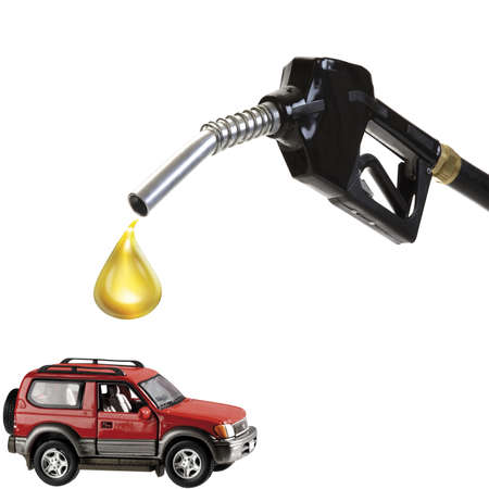 energy use: Nozzle, oil drop and car