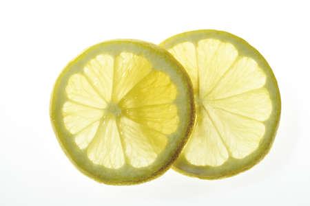 citrons: Lemon slices, close-up