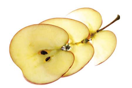 juxtaposing: Sliced apple, close-up
