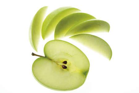 sliced apple: Sliced apple, close-up