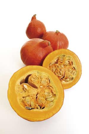 juxtaposing: Hokkaido-pumpkins in a row
