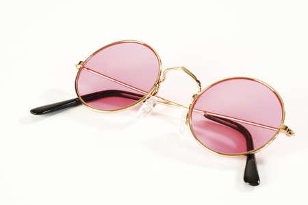 gladden: Pink metal-rimmed spectacles LANG_EVOIMAGES