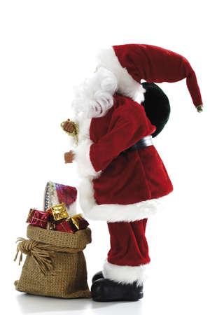 interiour shots: Santa Claus Figurine with presents LANG_EVOIMAGES
