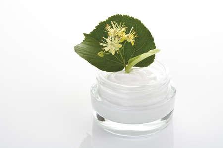 limetree: Lime blossom cream, close-up