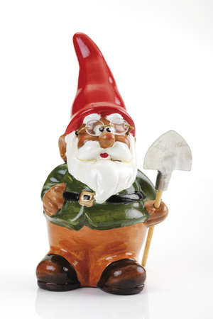 dwarfs: Garden gnome with spade, close-up