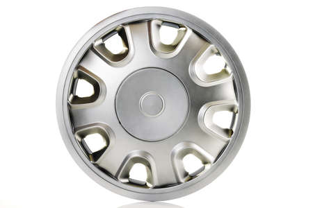 hubcaps: Silver wheel, close-up LANG_EVOIMAGES