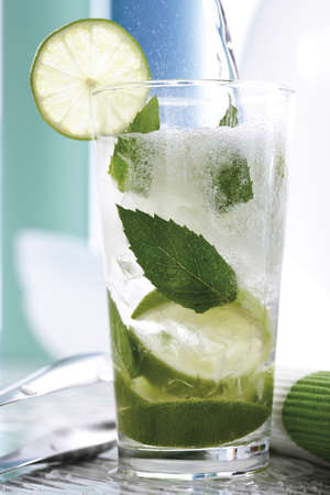 interiour: Mojito with fresh limes and mint LANG_EVOIMAGES