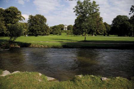 panoramics: Germany, Bavaria, Munich, English Garden and Monopterus