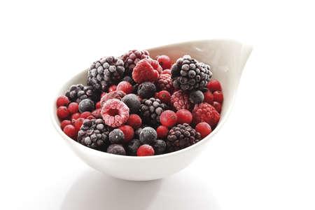 interiour shots: Frozen wild berries, close-up