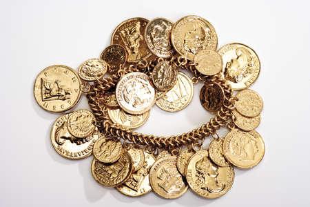 interiour shots: Bracelet with golden coins LANG_EVOIMAGES