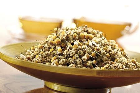 naturopath: Chamomile tea, close-up