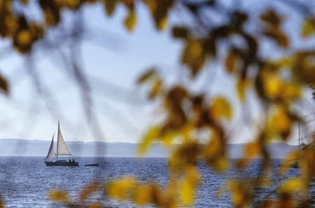 unbound: View of boat sailing in sea