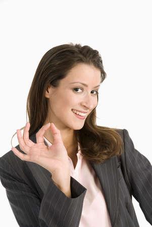 gesticulating: Businesswoman making gesture, close-up