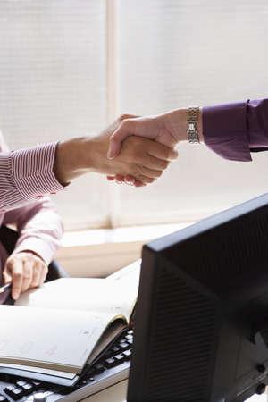 everyday jobs: Handshake bewteen businesspeople