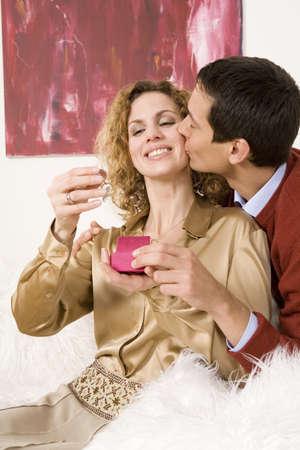 embracement: Couple, man kissing woman