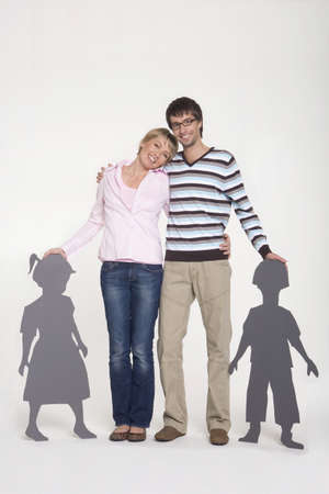 Young couple smiling, portrait Stock Photo - 23853508