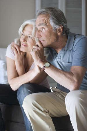 55 59 years: Senior couple, portrait