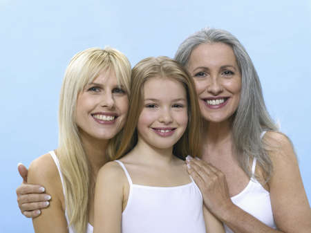 grizzled: Grandmother, daughter and granddaughter, portrait