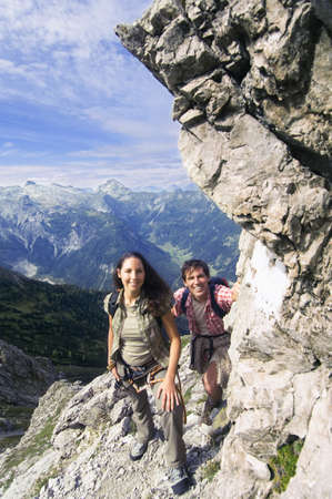 wanderers: Austria, Salzburger Land, couple hiking