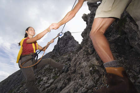 recreational climbing: Austria, Salzburger Land, couple mountain climbing