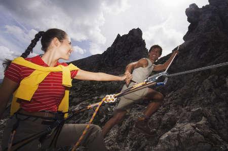 alpinism: Austria, Salzburger Land, couple mountain climbing