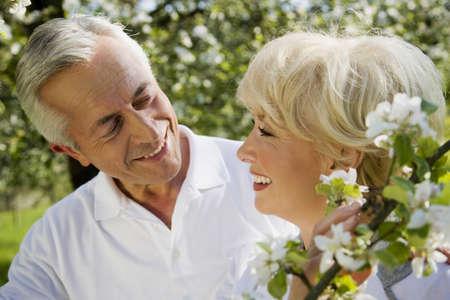 65 69 years: Germany, Baden Württemberg, Tübingen, Senior couple, smiling, portrait