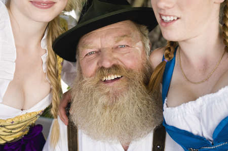 65 69 years: Germany,Bavaria,Upper Bavaria,Senior man and two women,portrait,close-up LANG_EVOIMAGES