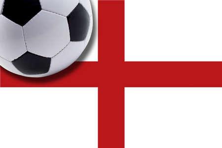 bandera inglaterra: El bal�n de f�tbol contra la bandera de Inglaterra LANG_EVOIMAGES