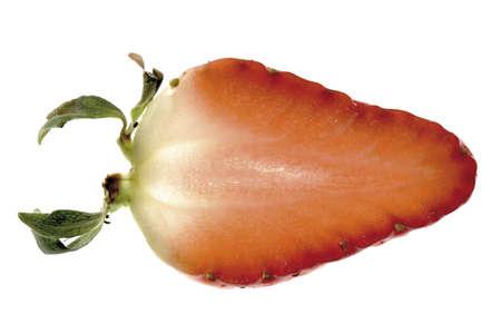 birdseye: Strawberry slice, close-up