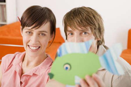 interiour shots: Couple smiling, portrait