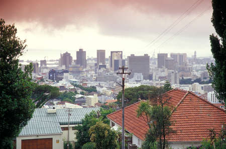 rsa: Skyline of Capetown, from Tamboerskloof, Western Cape, Capetown, South Africa LANG_EVOIMAGES