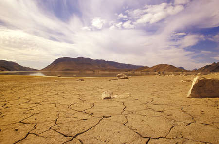 lonliness: Gamskapoortdam, dry lands, Little Karoo, South Africa LANG_EVOIMAGES