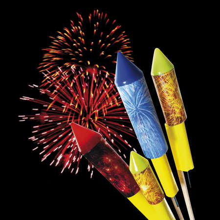 bl: Firework and rockets, close-up LANG_EVOIMAGES